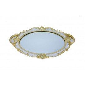 bandeja de resina espelhada oval provencal branco lunne casa cafe e mel 1