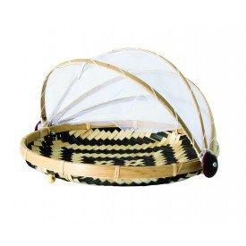 cesto porta pao e bolo bambu geometrico dm0036 gzt casa cafe e mel
