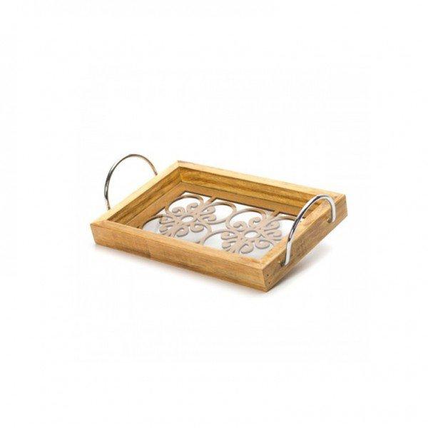bandeja madeira com espelho e alca 16056 marimar casa cafe e mel