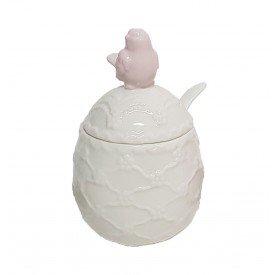 acucareiro ceramica passaro branco 67656 lilian casa cafe e mel