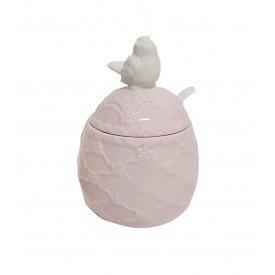 acucareiro ceramica passaro rosa 67656 lilian casa cafe e mel