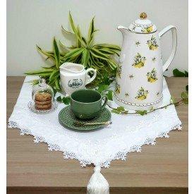 caminho de mesa linho branco renda rosas amora casa casa cafe e mel 2