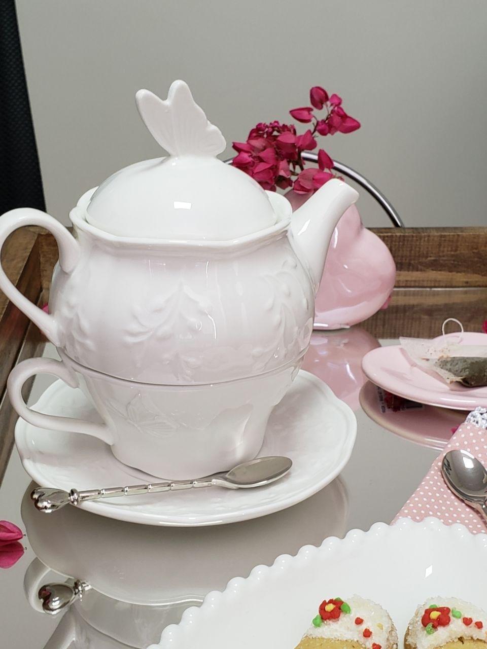 conjunto cha porcelana new done butterfly 8524 a lyor casa cafe e mel 9