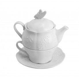 conjunto cha porcelana new done butterfly 8524 a lyor casa cafe e mel 1a
