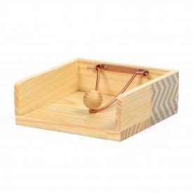 orta guardanapo em madeira e ferro zig zag cinza 18848c decor glass casa cafe e mel