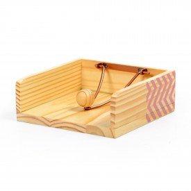 porta guardanapo em madeira e ferro zig zag rosa 18848r decor glass casa cafe e mel