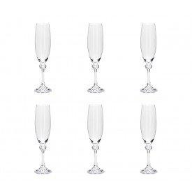 taca para champagne cristal elisa 6 pecas 220ml 35085 rojemac casa cafe e mel