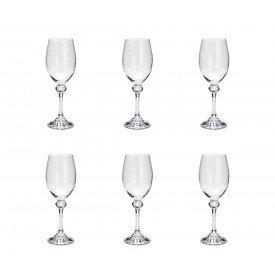 taca para vinho branco cristal elisa 6 pecas 250ml 35086 rojemac casa cafe e mel