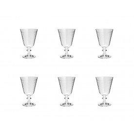 taca para vinho cristal bella flores 6 pecas 350ml 35320 rojemac casa cafe e mel