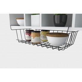 suporte aramado para armario black 1420bl stolf casa cafe e mel