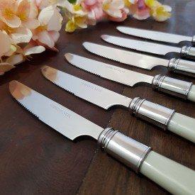 conjunto de facas de sobremesa lyor madreperola casa cafe emel