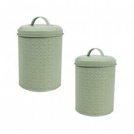 lata para mantimentos redonda kit 2 pecas verde bl0001p d02 gzt casa cafe e mel
