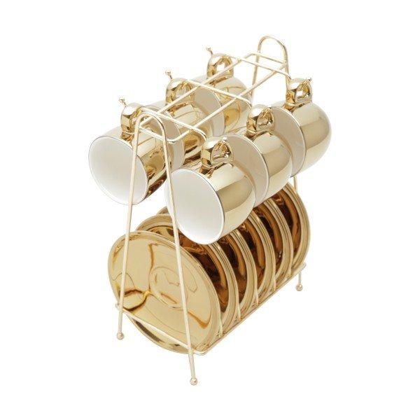 xicara para cafe com pires e suporte branco e dourado 35524 versa rojemac casa cafe e mel 1