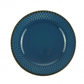 prato para sobremesa porcelana drops azul 17480 bon gourmet casa cafe e mel 1