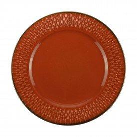 prato para sobremesa porcelana drops laranja 17482 bon gourmet casa cafe e mel 1