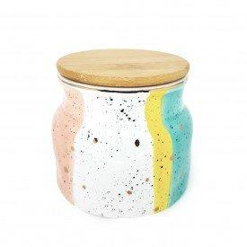 pote de porcelana com vedacao e tampa de madeira dec02321 casa cafe e mel 1