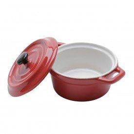 mini cacarola de porcelana com tampa black lid vermelho 35533 bon gourmet casa cafe e mel 1