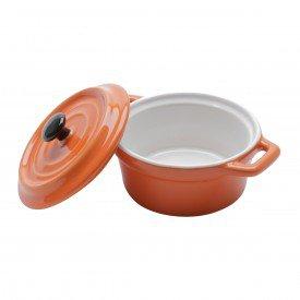 mini cacarola de porcelana com tampa black lid laranja 35534 bon gourmet casa cafe e mel 1
