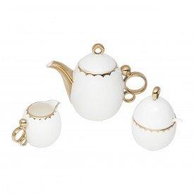 conjunto para cha e cafe de porcelana egg branco 3 pecas 3782 wolff casa cafe e mel 1
