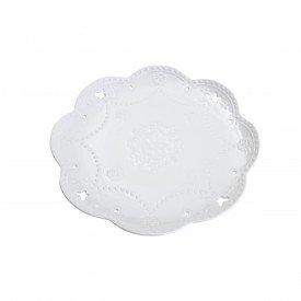 prato de bolo ceramica borboleta o32cm branco 26417 bon gourmet casa cafe e mel 1