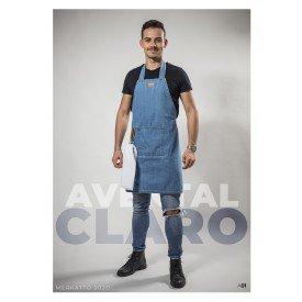 avental jeans com fivela unisex claro merkatto casa cafe e mel