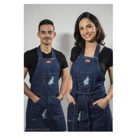 avental jeans com bolso unisex escuro detalhes merkatto casa cafe e mel 1