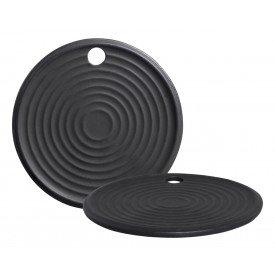 tabua de servir ceramica redonda preto p 05 427 silveira casa cafe e mel
