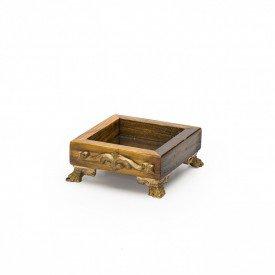 bandeja de madeira quadrada espelhada mini tribal luxo 144501 marimar casa cafe e mel