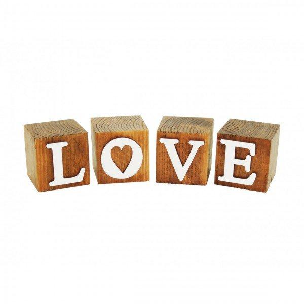 cubos de madeira decorativos love 183301 marimar casa cafe e mel