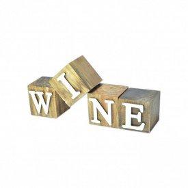 cubos de madeira decorativos wine 17316 marimar casa cafe e mel
