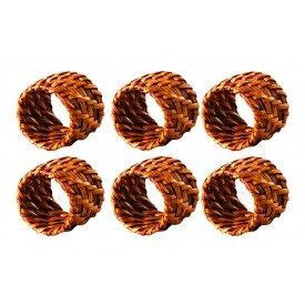 argola para guardanapo redonda de rattan marrom claro 6t15 d02 gzt casa cafe e mel 1