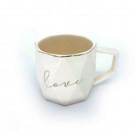 caneca porcelana love com filetes dourados bege dec02405 home design casa cafe e mel 1