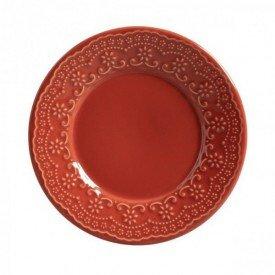 prato raso sobreesa ceramica madelaine 6 pecas porto brasil cantaloupe casa cafe e mel