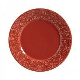 prato raso ceramica madelaine 6 pecas porto brasil cantaloupe casa cafe e mel