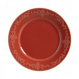 prato raso ceramica acanthus 6 pecas porto brasil cantaloupe casa cafe e mel
