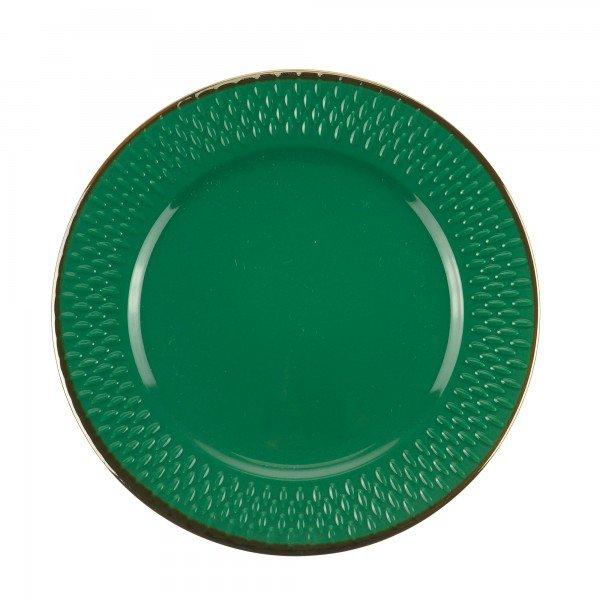 prato para sobremesa porcelana drops verde 17483 wolff casa cafe e mel 1