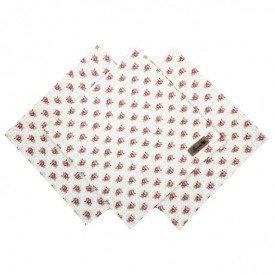guardanapo de tecido cinza floral amora casa casa cafe e mel