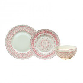 aparelho de jantar porcelana tie mood rosa 23255 full fit casa cafe e mel