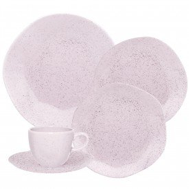 aparelho de jantar pink san 077156 oxford casa cafe e mel