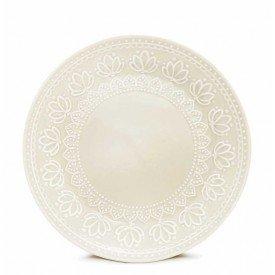 prato sobremesa ceramica relieve 2 pecas corona branco 8103010271 yoi casa cafe e mel
