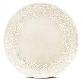 prato raso ceramica relieve 2 pecas corona branco 8103010269 yoi casa cafe e mel