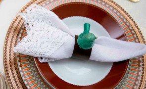 argola para guardanapo bird verde 6434 lyor casa cafe e mel