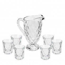 conjunto jarra 7 pecas diamond transparente bmj6011lx bht casa cafe e mel