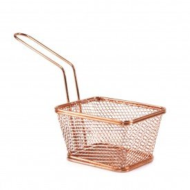 mini cesta para servir porcoes rose gold wx7182 wellmix casa cafe e mel