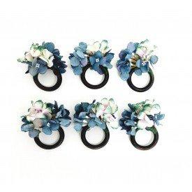 argola para guardanapo flores azul 22105 amora casa casa cafe e mel 1