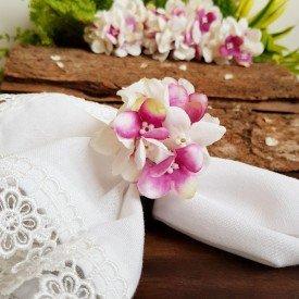 argola para guardanapo flores branco 22103 amora casa casa cafe e mel 1