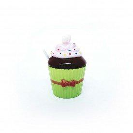 acucareiro cupcake porcelana com colher verde 73333 v casa cafe e mel 1