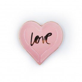mini prato decorativo porcelana love rosa 24729 full fit casa cafe e mel