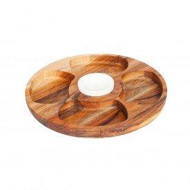 petisqueira teca de madeira 5 divisoes 1268 std stolf casa cafe e mel