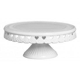 prato com pe ceramica branco coracao vazado o29cm 01 195co silveira casa cafe e mel